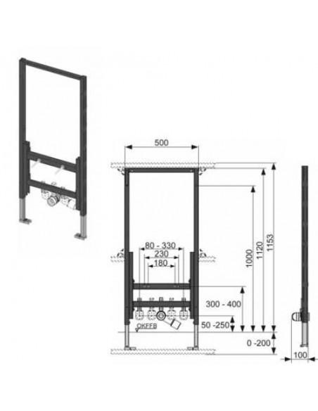 Podometni modul za bide TECE