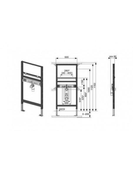 Podometni modul za umivalnik TECE