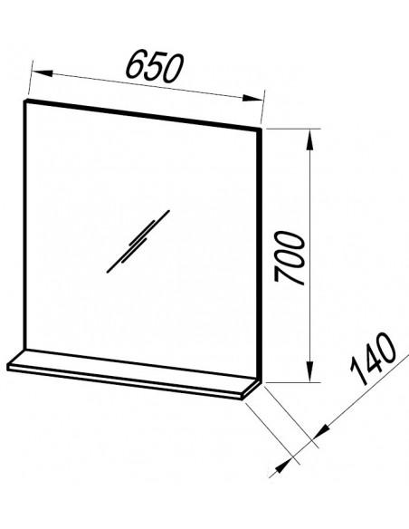 Ogledalo z integrirano LED svetilko Oxana