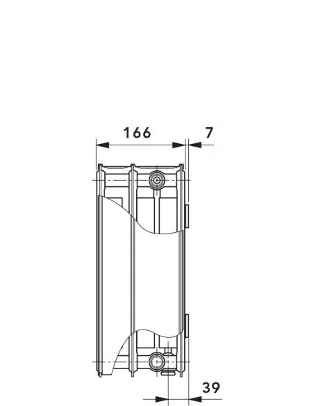 33 T6 Radiator s sredinskim priključkom
