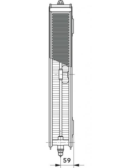 22 T6 Radiator s sredinskim priključkom