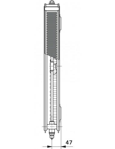 21 T6 Radiator s sredinskim priključkom